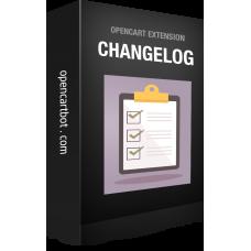 Модуль Changelog Журнал обновлений товара OpenCart 3