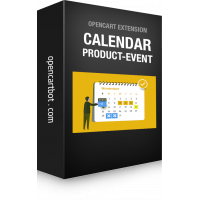 Модуль Календар подій-товарів для OpenCart 3