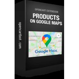 Модуль Товары на карте Google Maps для OpenCart 3