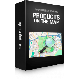 Модуль Товари на карті для OpenCart 3