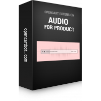 Модуль Аудіо товар для OpenCart 3