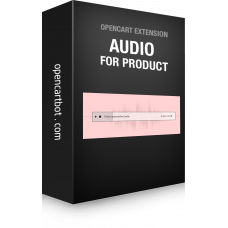 Модуль Аудио товар для OpenCart 3